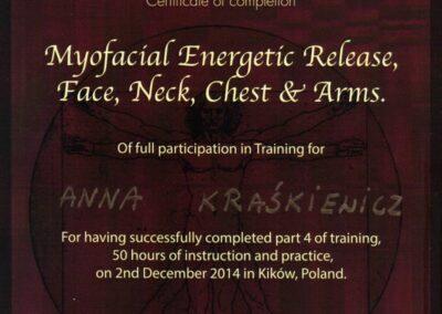 Dyplom Masaż powięziowy twarzy