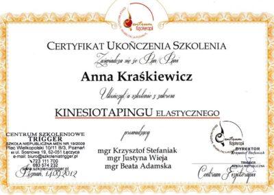 Dyplom Kinesiologytaping elastyczny