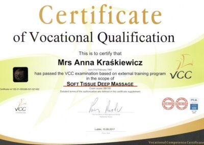 Dyplom masażu tkanek głębokich