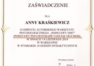 Dyplom Psychoterapia Tańcem i Ruchem