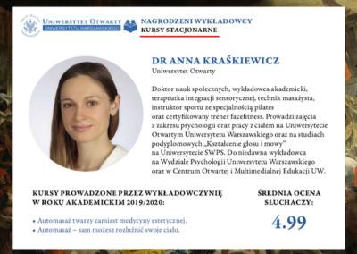 Wyróżnienie dla najlepszych wykładowców- Anna Kraśkiewicz-Wasiluk