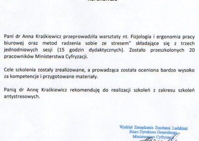 Referencje Anna Kraśkiewicz-Wasiluk
