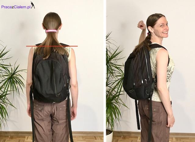 obrazek noszenia plecaka