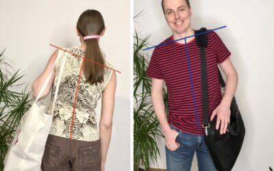 Noszenie torby na jednym ramieniu